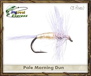 Fly Fishing Flies - PALE MORNING DUN - Dry Fly (3-pack)