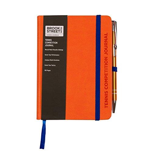Tennis-Wettbewerb-Notebook A6. A6 hellorange