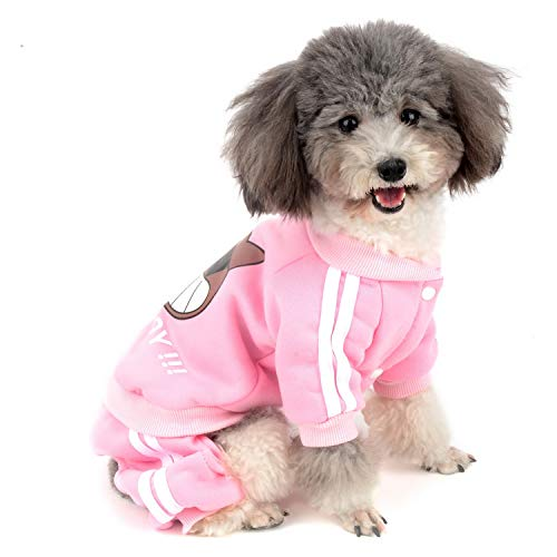 Zunea Mono para Perro pequeño Abrigo Ropa Chándal de Invierno Cálido Algodón Acolchado Sudadera para Cachorros Gato Chihuahua Yorkshire...