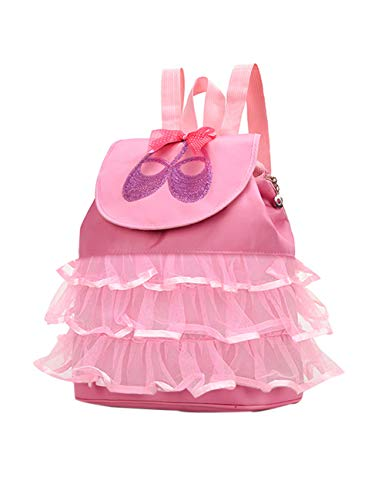 KRUIHAN Little Girl Princess Dancing Rucksack - Ballet Gymnastics Swimming School Outdoor Travel Yoga Sport Handbag Backpack Ballerina Shoe Dress Luggage Suitcase Pink