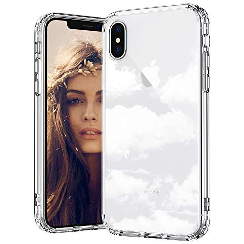 MOSNOVO iPhone XS Max Hülle, Wolke Muster TPU Bumper mit Hart Plastik Hülle Durchsichtig Schutzhülle Transparent für iPhone XS Max (Cloud)