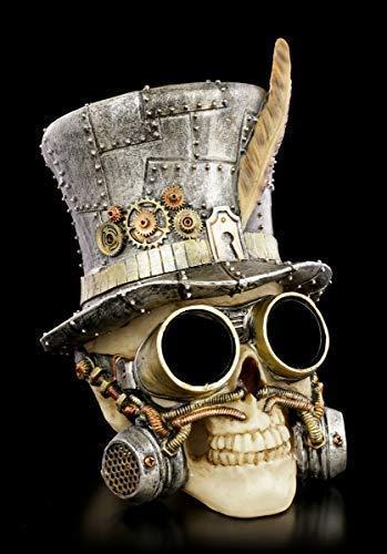 Figuren Shop GmbH Gothic Steampunk Totenkopf - Count Archibald | Fantasy Schädel, Totenschädel Skull