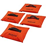 GoSports Sports Net Sand Bags Set of 4 - Weighted Anchors for Baseball Nets, Soccer Goals, Golf Nets, Football Nets, Hockey Nets and More, Orange