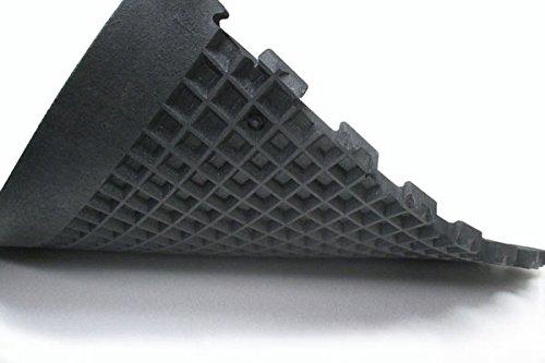 IRON COMPANY Humane SHOK-LOK 4' x 8' x 3/4' Anti-Shock Rubber Deadlift Mat (Solid Black) - Cardio...
