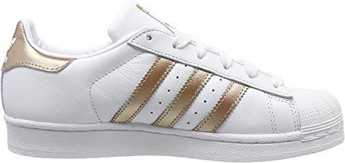 adidas Damen Superstar Sneaker, Weiß (Footwear White/Copper Metallic/Core Black 0), 40 EU