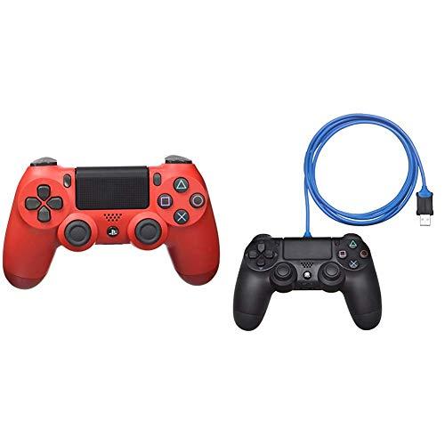 Sony - Dualshock 4 V2 Mando Inalámbrico, Color Rojo...
