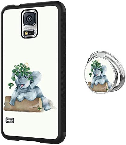 Marside Designed for Samsung Galaxy S5 Elephant Case with Ring Holder Protective Cover Case product image