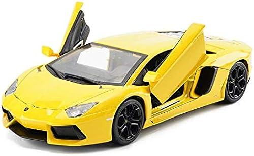 KKD Scale-Modellfahrzeuge Gelbes Modellauto Lamborghini LP700 Modell 1 32 Modellguss Modell Statische Modellsammlung Gedenkhobby Geschenk Mini Fahrzeuge