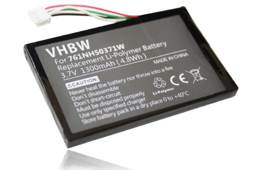 vhbw Li-Polymer Akku 1300mAh (3.7V) für Navigation, GPS Navigon 8110, 8130, 8310 wie 761NH50371W.