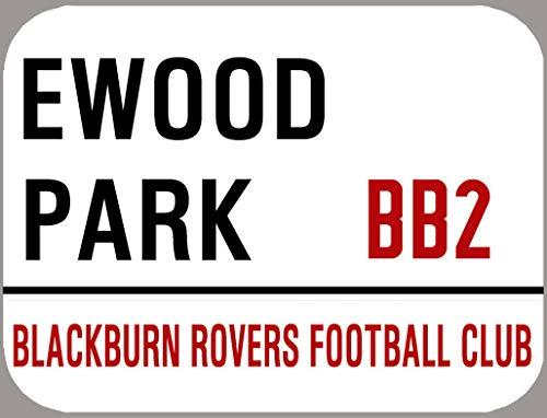 Blackburn Rovers Plaque décorative rétro en métal Motif football de football 20,3 x 30,5 cm