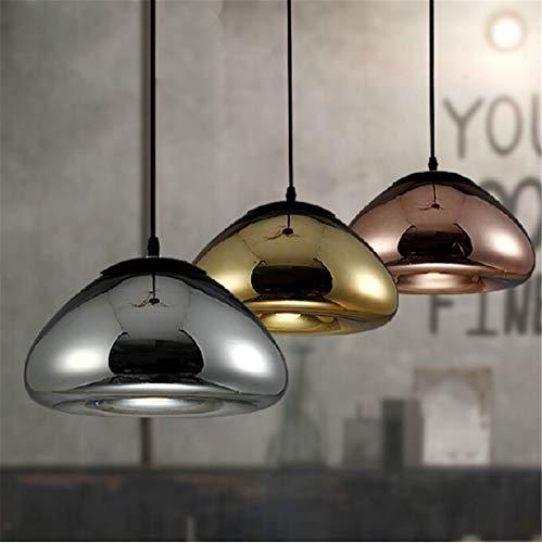 30CM Licht Void Kupfer Messing Schüssel Spiegelglas Bar Art Modern E27 LED Pendelleuchte hängende Draht Beleuchtung Kronleuchter Lichter 3 PCS 3 Color 30CM