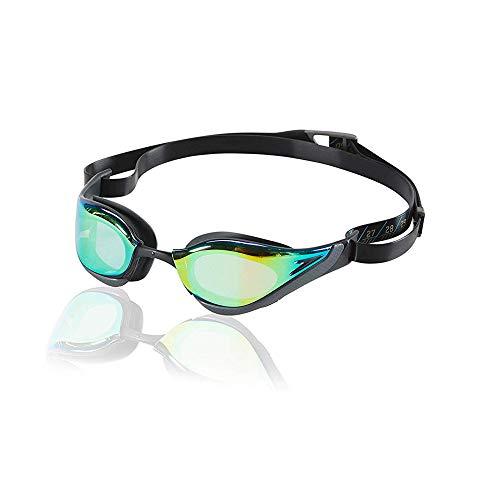 Speedo Unisex-Adult Swim Goggles Mirrored Fastskin Pure Focus Blue/Gold/Grey