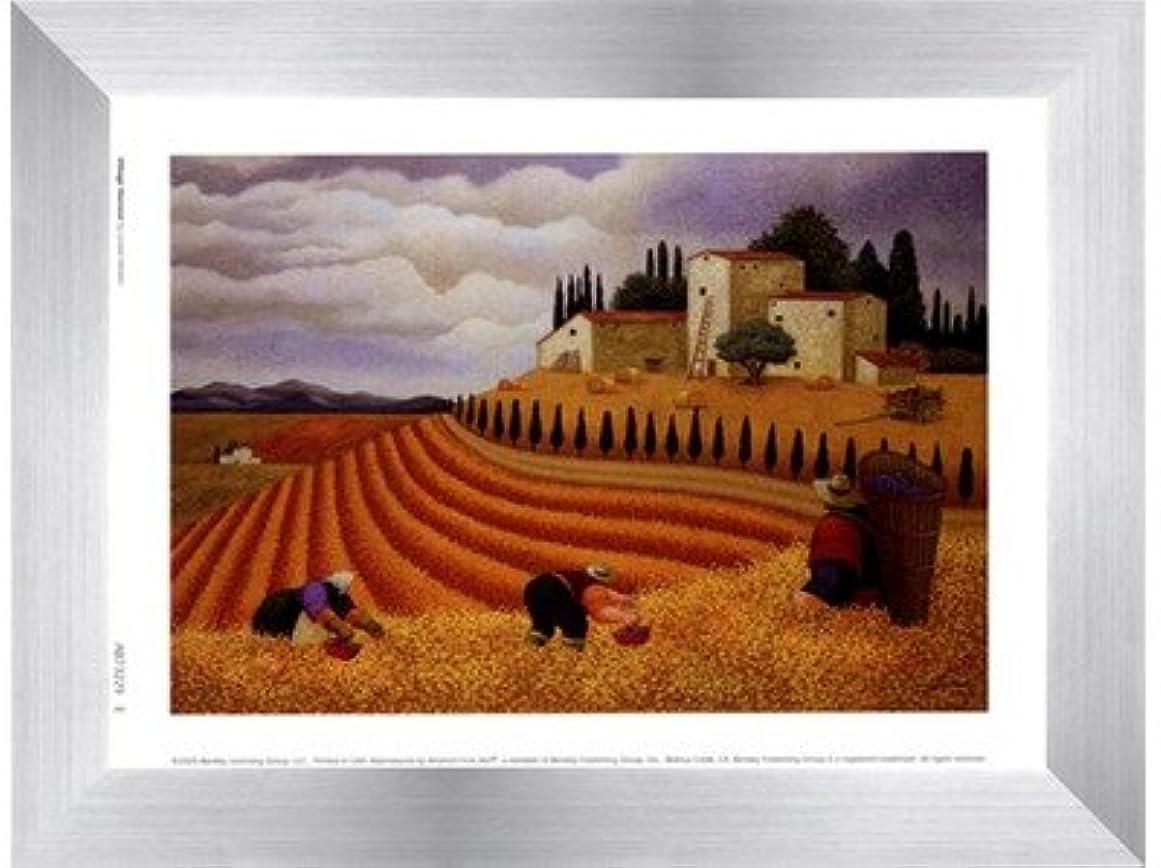 家事をする保証金サーキットに行く村Harvest by Lowell Herrero?–?8?x 6インチ?–?アートプリントポスター LE_455560-F9935-8x6