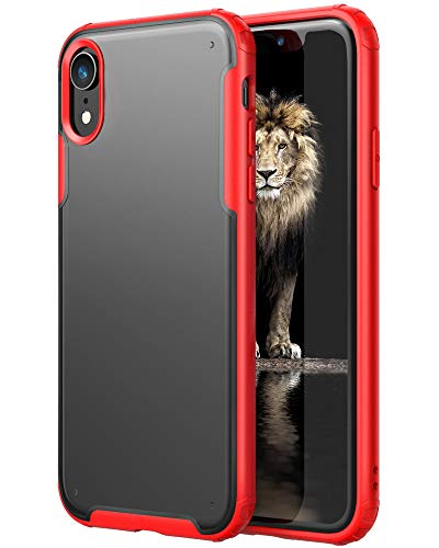 YATWIN Funda Compatible para iPhone XR, Carcasa Serie Anti Caídas, Flexible Bumper Rubber y Protección Anti-Choques Anti-Arañazos, Case Protectora Compatible para iPhone XR - Rojo