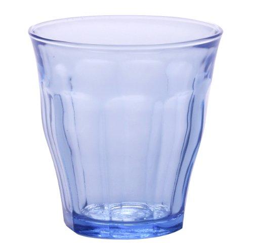 Duralex 1026BC04 Picardie - Set de 4 Vasos de Cristal (22 cl), Azul translúcido