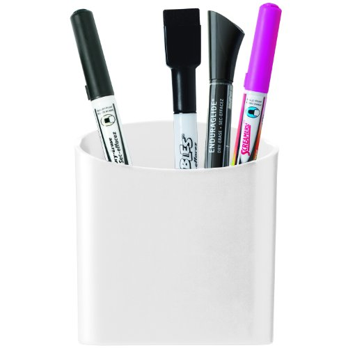 Quartet Magnetic Pen and Pencil Cup Holder, White (48120-WT)