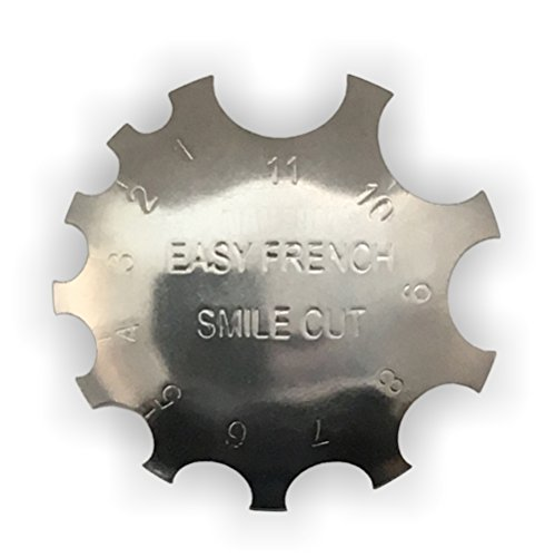 Edge Trimmer Easy French SMILE CUT Metall Schablone Cutter für Acryl UV Gel Modellage