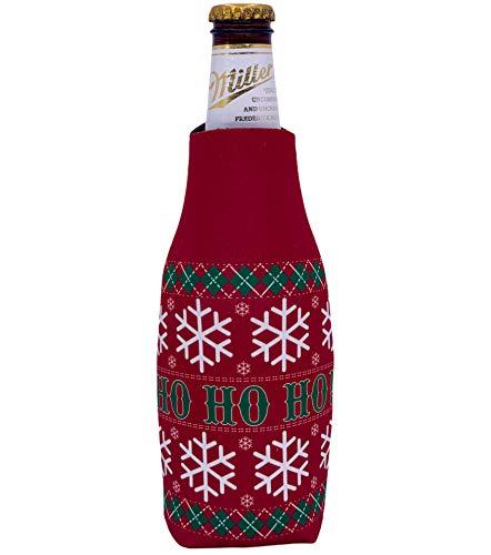 Ho Ho Ho Pattern Christmas Sweater Beer Bottle Coolie