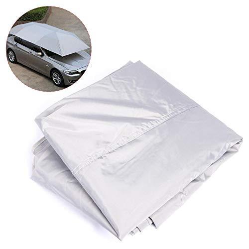 Cubierta protectora de refugio solar antidesgaste, parasol plegable portátil para coche, tienda de campaña para proteger el coche para barbacoa al aire libre(Silver)