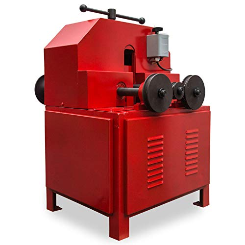 Happybuy Pipe Tube Bender 9 Round and 8 Square Die Set Electric Pipe Tube Bender 1500W Multi-function Electric Pipe Bender Tool (Red)
