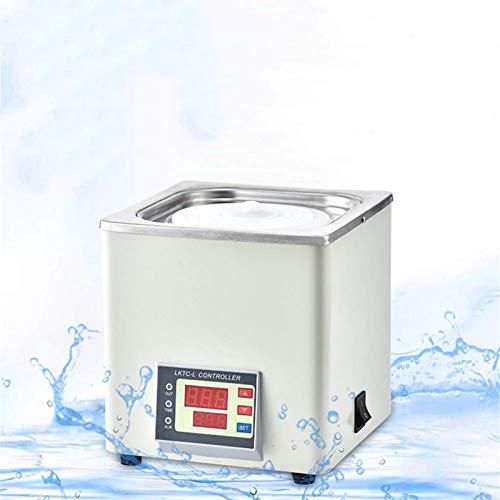 4YANG Digitales Thermostat-Wasserbad Labor-Wasserbad, Elektrische Digitalanzeige mit konstanter Temperatur, wählbare Öffnungen, RT bis 100 ° C, 3L Kapazität, 300W, 220V / 60 Hz