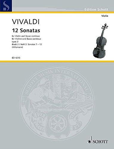 12 Sonatas: Heft 2. op. 2. Violine und Basso continuo; Violoncello ad libitum. (Edition Schott)