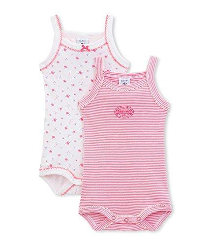 Petit Bateau 17295 - Body - Sans manche - Lot de 2 - Bébé fille - Multicolore (Spécial Lot 00) - FR: 12 mois (Taille fabricant: 12 mois)