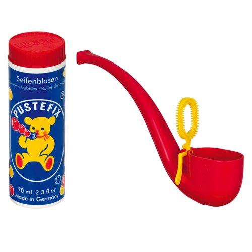 Pustefix Puste-Pipe I 70 ml Seifenblasenwasser I Seifenblasen Spielzeug für Kindergeburtstag, Polterabend, Sommerparty & Hochzeit I Pfeife für Kinder & Erwachsene