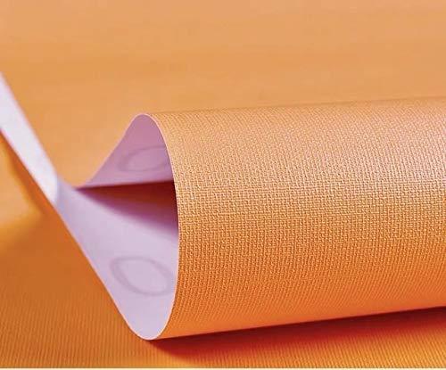Jidan Hauptwand-Dekorfolie PVC Massiv Makronen Farbe Tapeten Vinylkunst-DIY Wandtattoo for Kinder Schlafzimmermöbel Wohnzimmer (Color : Orange, Dimensions : 60cm x1m)