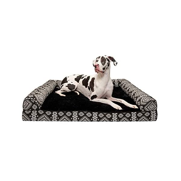 Furhaven Pet – Orthopedic Living Room Sofa-Style Couch, Mold & Mildew Resistant Elevated Mesh Dog Bed Cot for Dogs & Cats – Multiple Styles, Sizes, & Colors