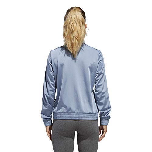adidas Women's Essentials Tricot Track Jacket (XL, Grey)