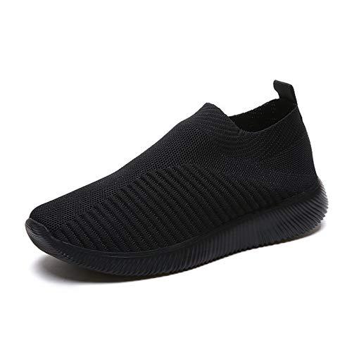 Goutui Zapatos de mujer de malla para verano transpirables duraderos con suela antideslizante