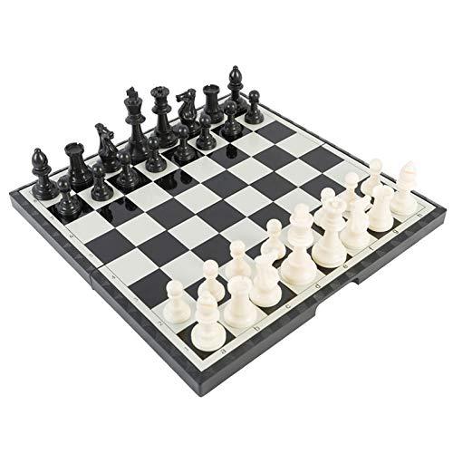 Zyj stores Ajedrez Juego de ajedrez magnético de Estilo de 25 cm plástico plástico Plato Ligero Tablero Ligero Juguetes educativos Parlor Game Outdoor Portable Ajedrez