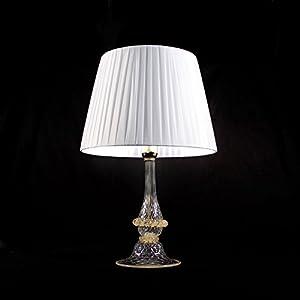 Lámpara de mesa de cristal de Murano