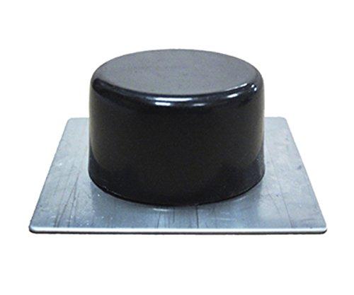 Sysfix HNY 2311502 Lot de 10 butées de Porte adhésive à Socle INOX Noir