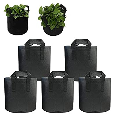 5-Pack 5-15 Gallons Grow Bags -PET Recycled Env...