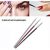 3 UNIDS Cepillo uñas para mujer Sannysis Cepillo del arte del clavo Gel UV Set de bolígrafos Frcolor para decoración de uñas