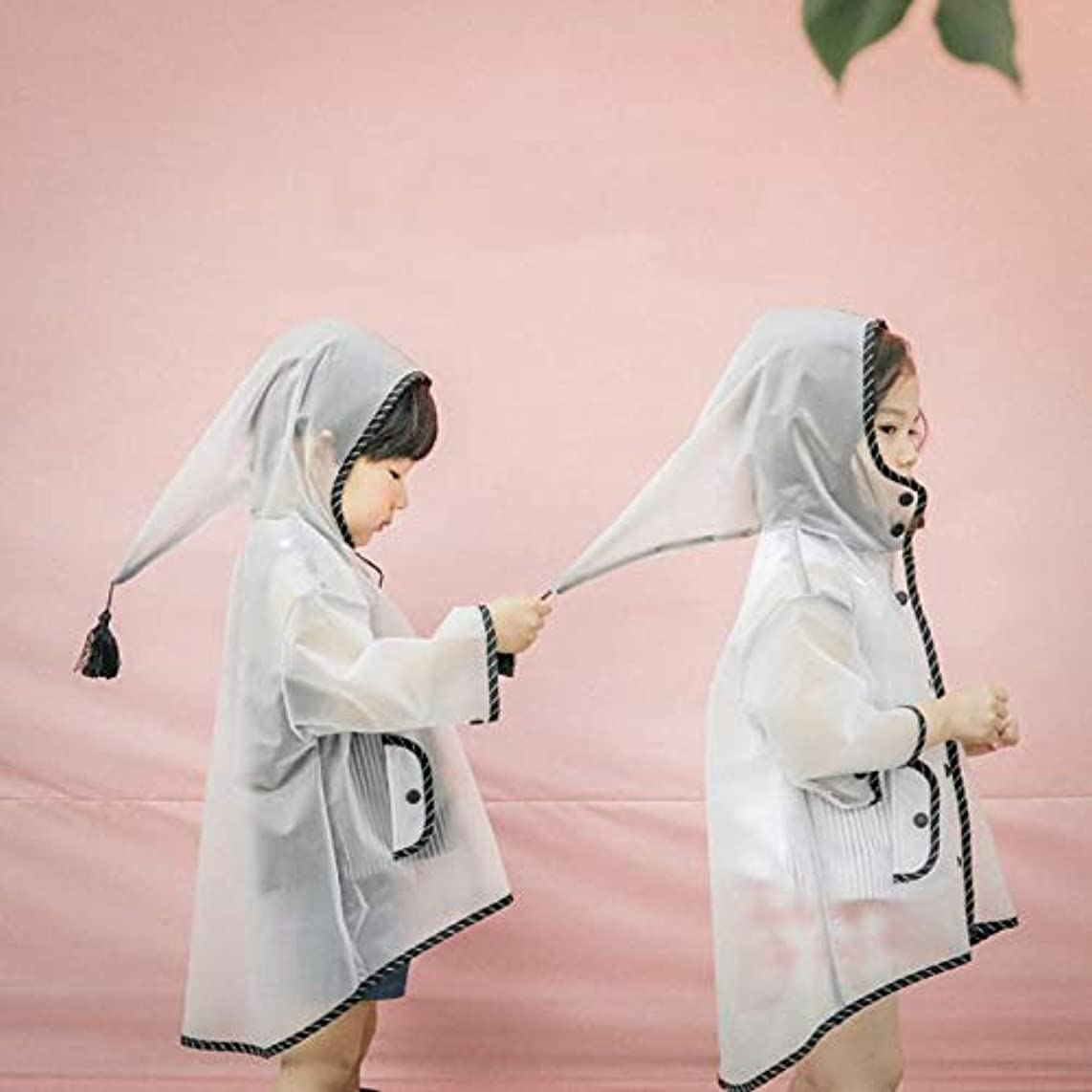 Overcoat White - Design Boys Girls Raincoats Witch Hat Transparent Rain Coat White Waterproof Coats Years Kids - Vitamins Crow Yellow Sleeping Tree Notebook Village Non-slip Coats Fish Women Ra