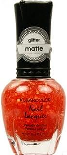 (6 Pack) KLEANCOLOR Glitter Matte Nail Lacquer - Poppy Field (並行輸入品)