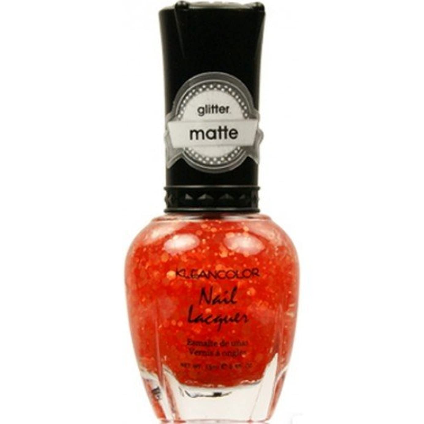 豆制裁南東(6 Pack) KLEANCOLOR Glitter Matte Nail Lacquer - Poppy Field (並行輸入品)