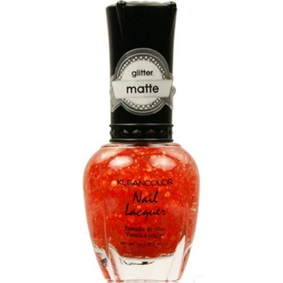 出費許可七時半(6 Pack) KLEANCOLOR Glitter Matte Nail Lacquer - Poppy Field (並行輸入品)