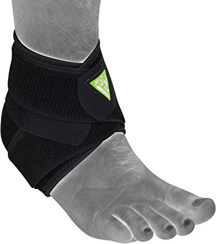 RDX Fußbandage Knöchelbandage Verletzung durch wiederholte Belastung RSI Arthritis Knöchelschutz Sehnenentzündung Kickboxen Fußgelenkbandagen Knöchelschoner (Das Paket Enthält Einzelstück)