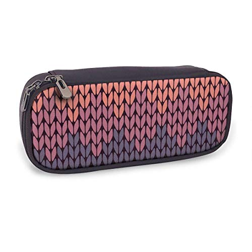 Pencil Case Pen Bag,Gradient Knitted Pattern,Large Capacity Pen Case Pencil Bag Stationery Pouch Pencil Holder Pouch with Big Compartments