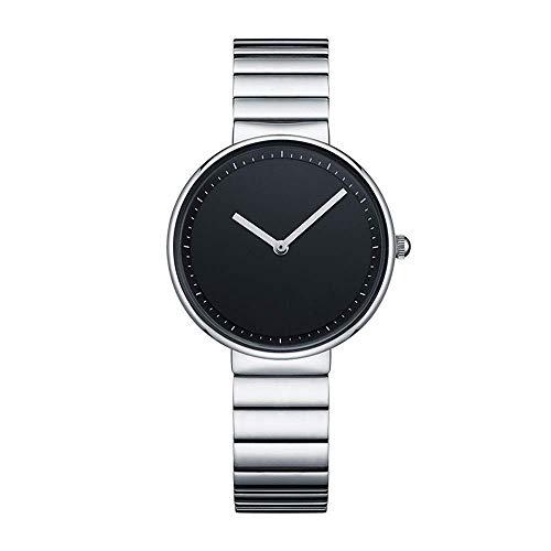 Thumby Praktische Polshorloges Dames Eenvoudige Ultra-Dunne 8 Mm Quartz Horloge 33 Mm Effen Staal Riem Mode Waterdichte Decoratieve Horloge Armband ZILVER