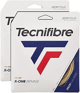 Tecnifibre X1-Biphase Tennis String Natural - 2 Packs - Premium Multi-Filament String - Choice of Gauge