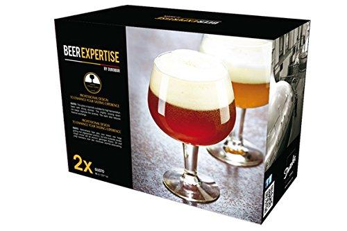 Set de 2copas de cerveza transparentes