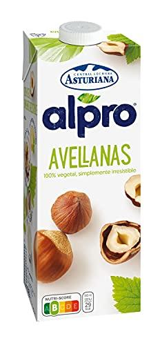 Alpro Central Lechera Asturiana - Bebida de Avellana, 100% Vegetal, Baja en Grasas con Calcio, Apta para Veganos, Brik de 1 litro - 1 x 1000ml