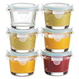 Superior Glass Food Storage Containers - Set of 6-4 Oz...