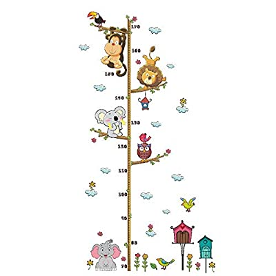 Decorations Nursery Baby Kids Room Decor for Girls Wall Decals,Growth Height Chart for Kids Wall Chart Rooms Growth Height Tape Measure Stickers Baby Room Wall Stickers Ruller Decor