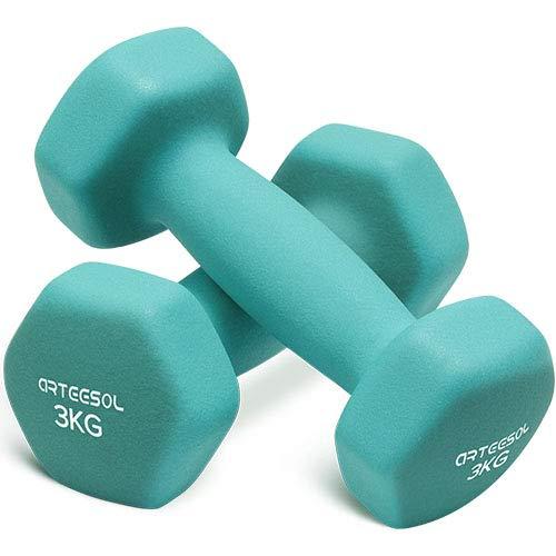 arteesol Mancuernas de Neopreno Peso 1kg/2kg/3kg/4kg/5kg/8kg/10 kg en Pares para Hombres Mujeres Ni